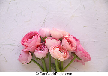 pink flowers on texture