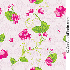 Pink flowers. Pattern for design