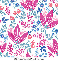 Pink flowers seamless pattern background