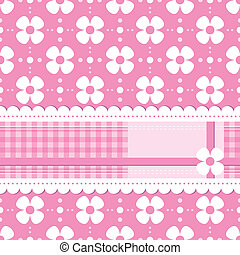 pink flowery greeting card