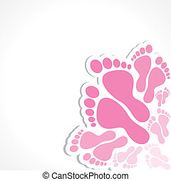 pink foot background