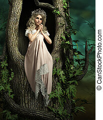 Pink Forest Fairy, 3d CG