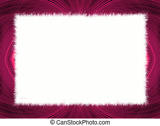 Pink Fractal Border with White Copy Space.