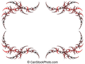 Pink Fractal Frame With White Copy