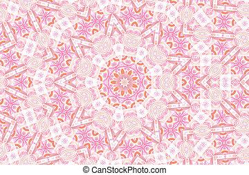 Pink Fractal Mandala Background