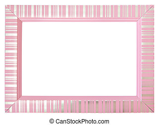 Pink frame isolated on white background