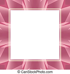 Pink Frosted Frame