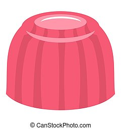 Pink fruit jelly icon isolated