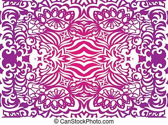 Pink funky seamless pattern