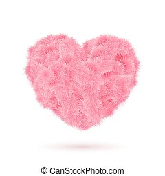Pink fur heart for Your Valentine design.
