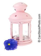 Pink garden lantern