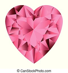 Pink gemstone heart.