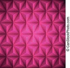 Pink Geometric abstract low-poly paper background. Vector illustration