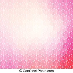 Pink geometric background with white outline