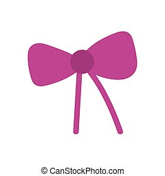 pink gift bow decoration ornament icon