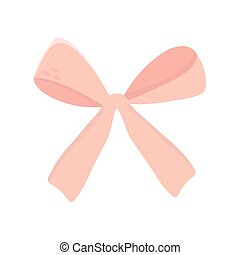pink gift bow decoration ribbon icon