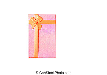 Pink gift box Isolate on white background