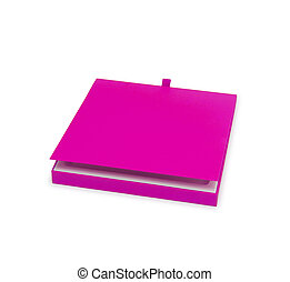 Pink gift box isolated on white background