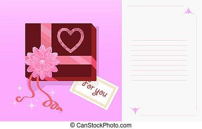 Pink gift box.