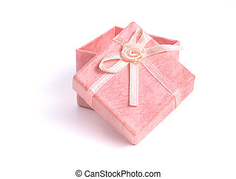 Pink gift box with bow