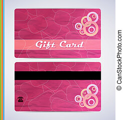 Pink Gift Card - retro grunge gift card for your business