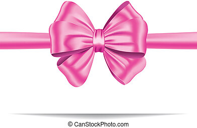 Pink gift ribbon with bow - Pink ribbon with gorgeous bow. ...
