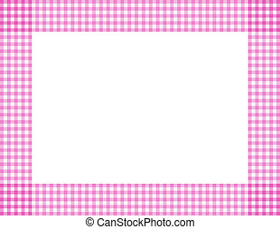 Pink Gingham Frame - Pink Gingham Background with center...