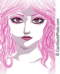 Pink girl face