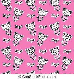 pink girl pattern