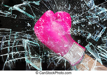 Pink Girl Power Breaking Glass.. - Pink girl power breaking...