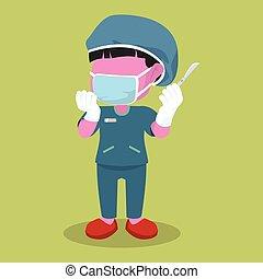 pink girl surgeon design