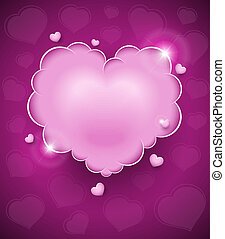 pink glamour heart cloud