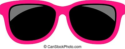 Pink glamour sunglasses vector icon