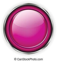 Pink glass button