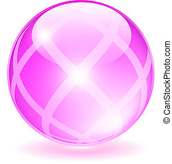 Pink glass orb