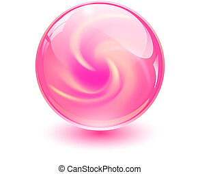 Pink glass sphere