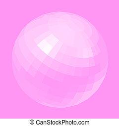 Pink globe