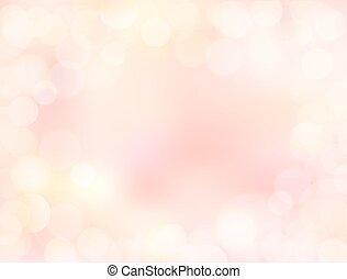 Pink gradient blank paper background with bokeh border