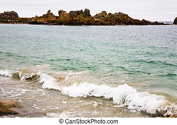 Pink Granite Coast in Brittany,