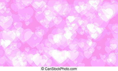 Pink Graphical hearts Background