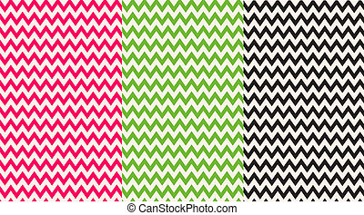 Pink, Green & Black Chevron Papers - backgrounds or papers