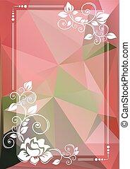 pink green floral border