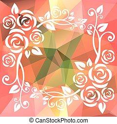 pink green polygonal border