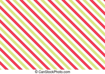 Pink-green stripes on white background.