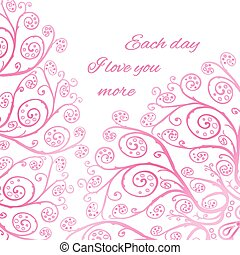 Pink greeting card template