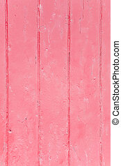 Pink grunge background - Closeup of wood panels with peeling...