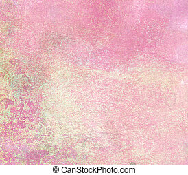 Pink grunge painted wall texture.