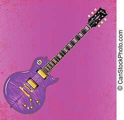 Pink Guitar Clipart Vector And Illustration 420 Clip