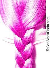 pink hair plaits