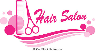 hair salon sign with scissors - pink hair salon sign with ...